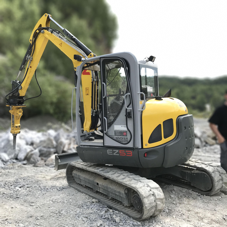 EX53 Wacker Neuson Excavator SB52 Breaker